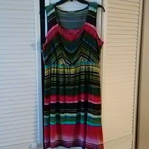NY Collection Sleeveless Dress 👗 Size XL